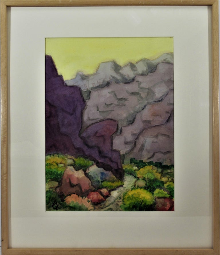 Arnold A. Grossman Landscape Art - Landscape with Trail