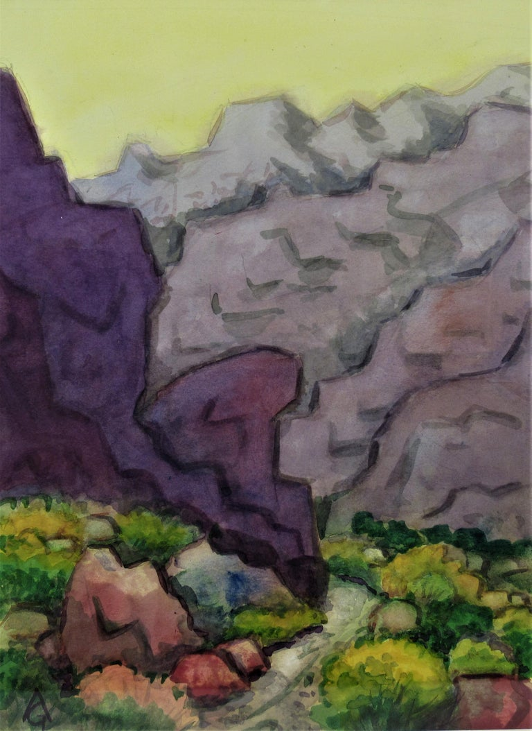 Landscape with Trail - Art by Arnold A. Grossman