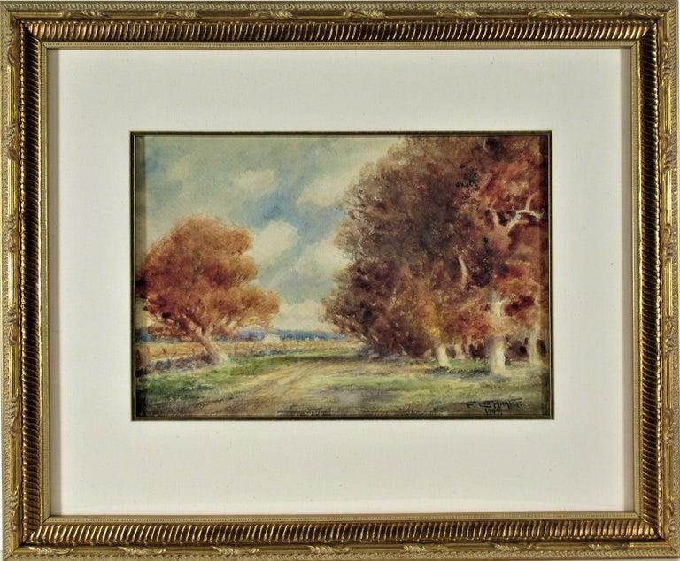 Frederick Leo Hunter Figurative Art - Landscape with Trees