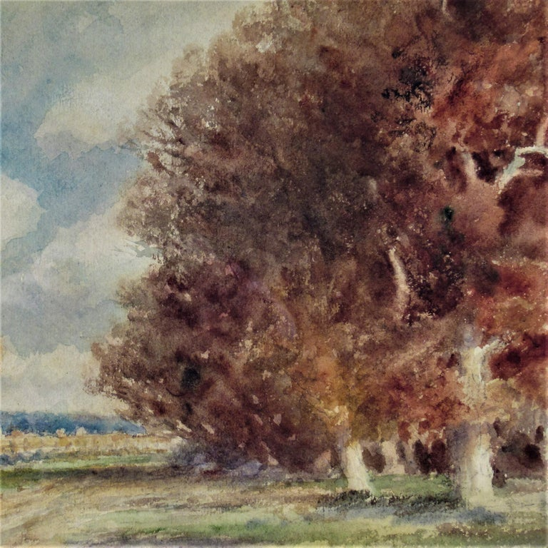Landscape with Trees - American Realist Art by Frederick Leo Hunter