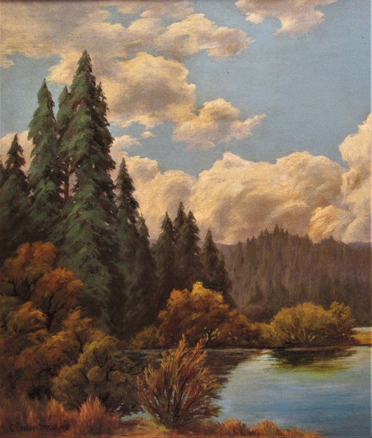 California Landscape with Lake - American Impressionist Painting by Earl Graham Douglas