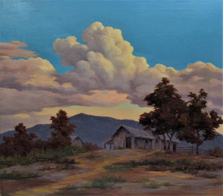 Earl Graham Douglas Landscape Painting - California Landscape with Houses