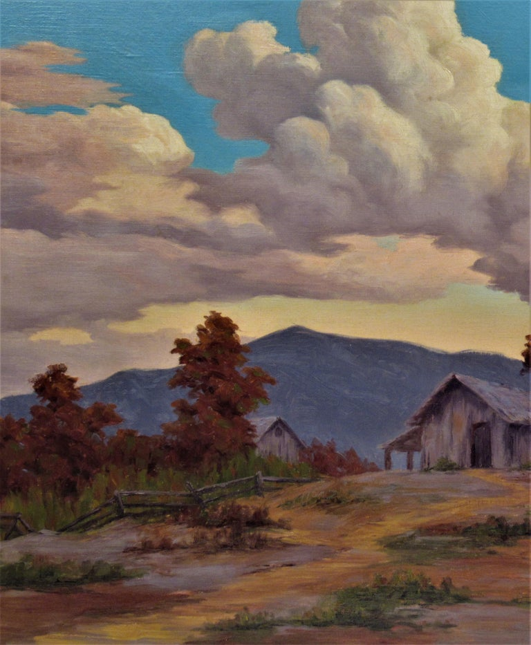 California Landscape with Houses - American Impressionist Painting by Earl Graham Douglas