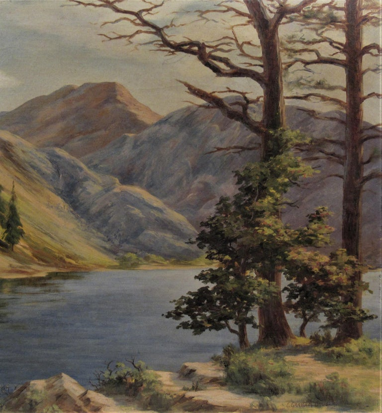 Convict Lake, High Sierra - American Impressionist Painting by Earl Graham Douglas