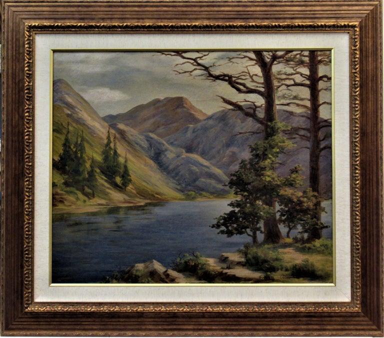 Earl Graham Douglas Landscape Painting - Convict Lake, High Sierra