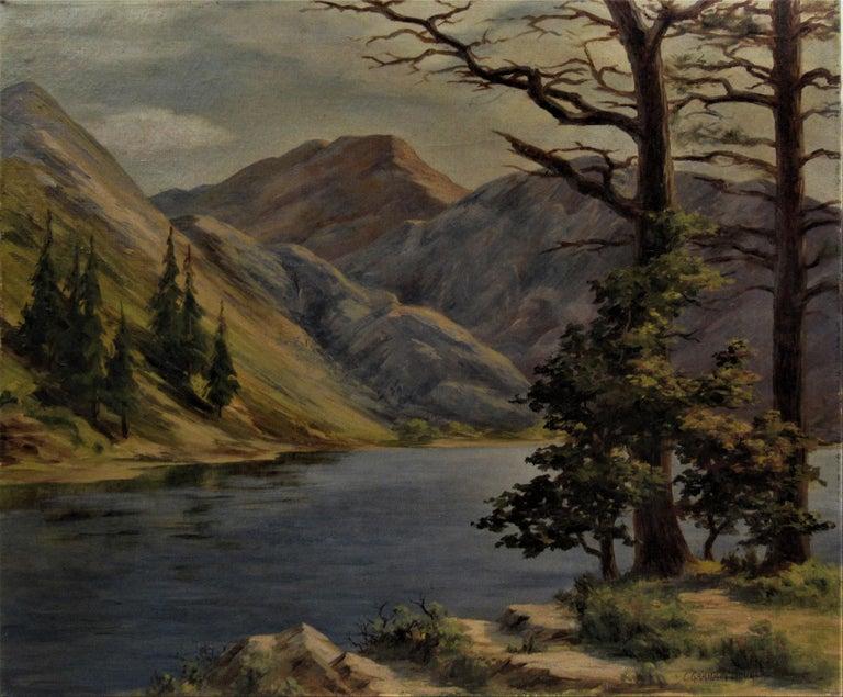 Convict Lake, High Sierra - Painting by Earl Graham Douglas