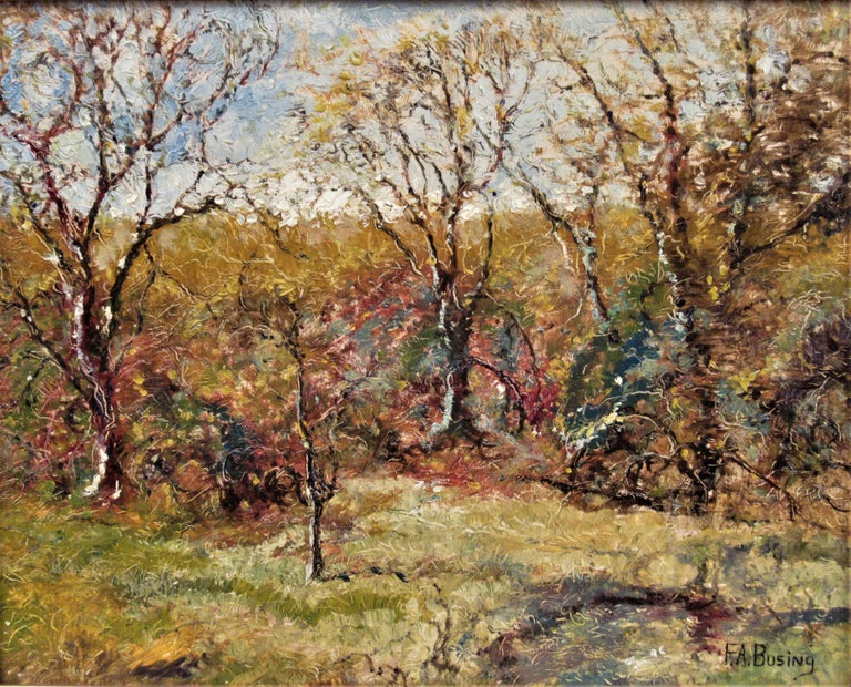 Landscape with Trees - Painting by Ferdinand A. Busing