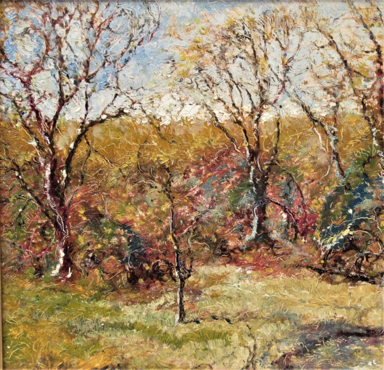 Landscape with Trees - American Impressionist Painting by Ferdinand A. Busing
