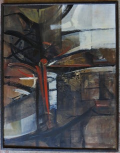 Bay Area Abstract Expressionist Mid-Century painting by Tom Ide