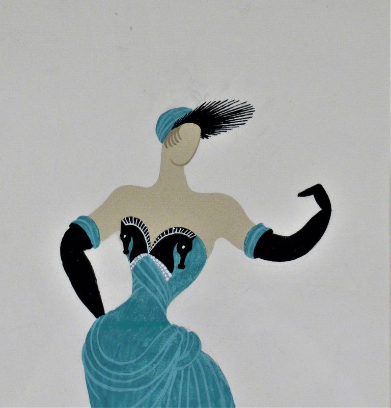 La Chanteuse - Art Nouveau Art by Erte (Romain de Tirtoff)