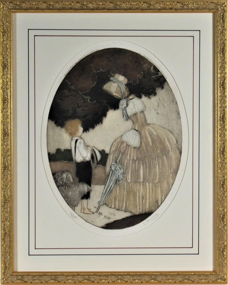 Sylvain Sauvage Figurative Print - Personages with Lambs