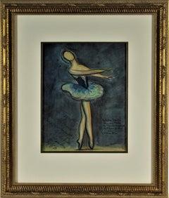 Ballet Dancer, Micheline Bardin, l'Oiseau Bleu