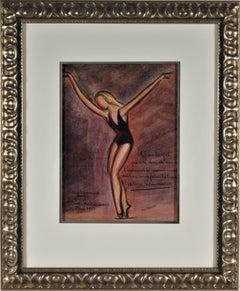 Ballet dancer Helene Sauvaneix dans Neige, Theatre Montparnasse