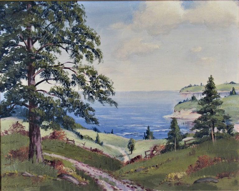 Landscape - Painting by Ernest Fredericks