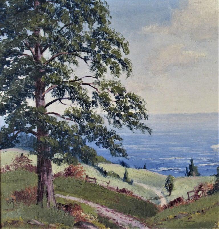 Landscape - American Impressionist Painting by Ernest Fredericks