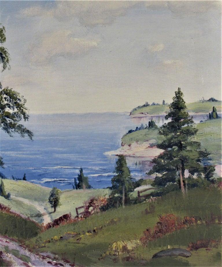 Landscape - Gray Landscape Painting by Ernest Fredericks