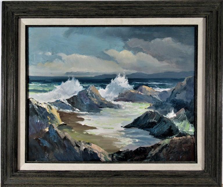 Elmer Frederick Ekeroth Figurative Painting - Seascape Near Monterey