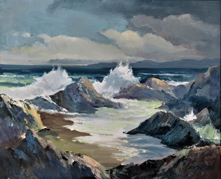 Seascape Near Monterey - Painting by Elmer Frederick Ekeroth