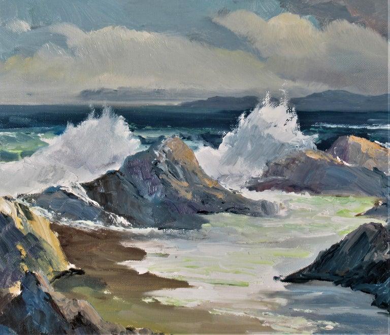 Seascape Near Monterey - American Impressionist Painting by Elmer Frederick Ekeroth