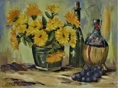 Still Life with Bottles, Flowers and Fruits