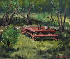 Landscape with Picnic Table