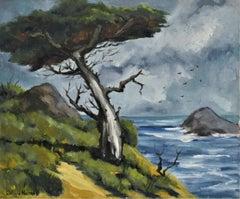 Coastal Scene with Cypress