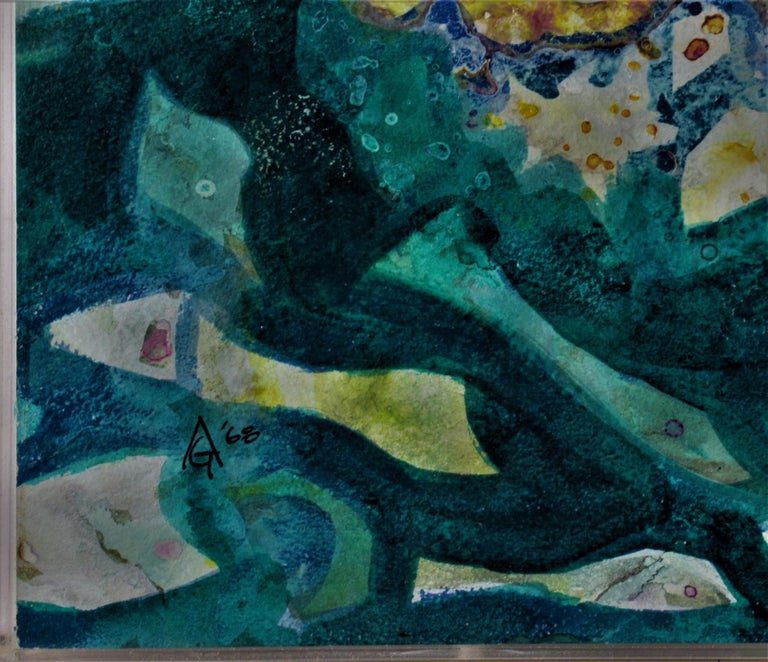 La Mer - Black Abstract Painting by Arnold A. Grossman