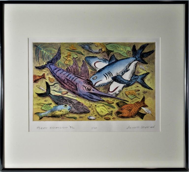 Arnold A. Grossman Figurative Print - Puerto Escondido