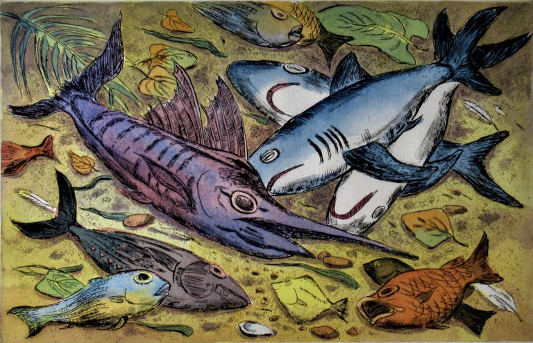 Puerto Escondido - Print by Arnold A. Grossman