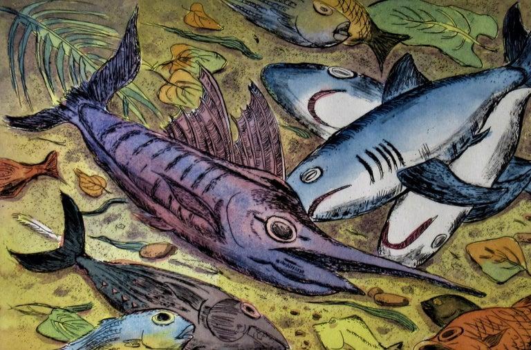 Puerto Escondido - American Impressionist Print by Arnold A. Grossman