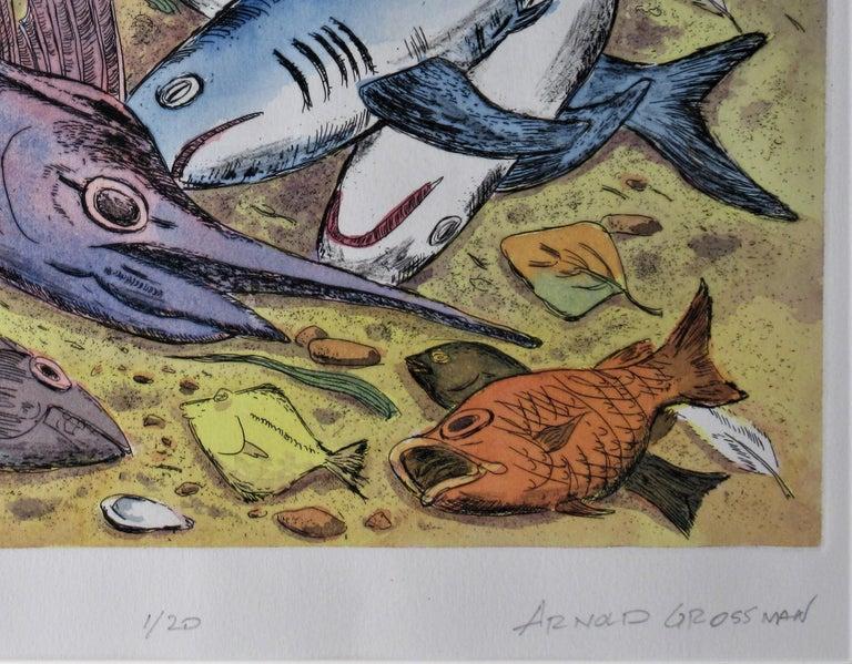 Puerto Escondido - Gray Figurative Print by Arnold A. Grossman