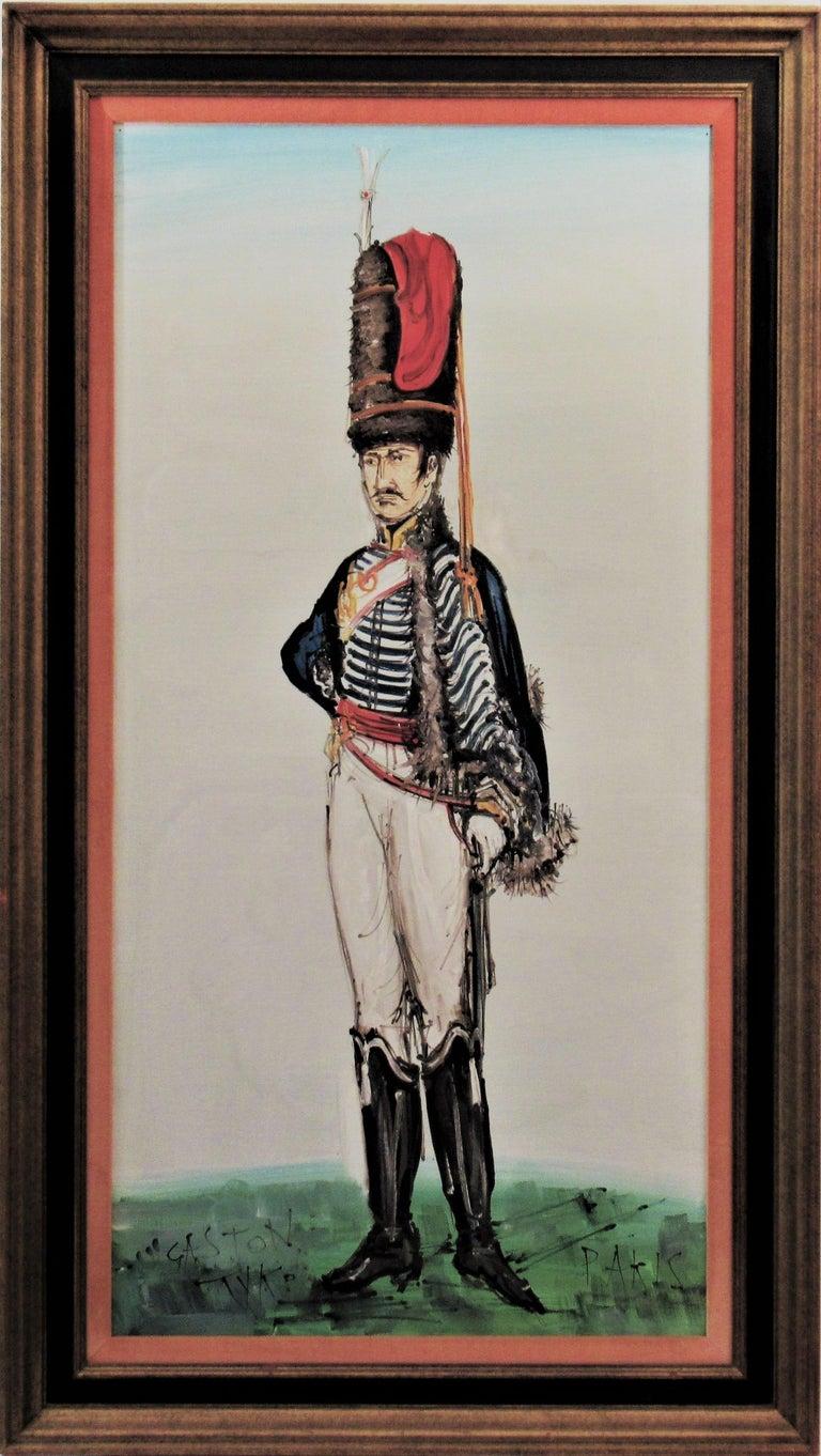 Gaston Tyco Figurative Painting - Hussard du Premier Empire, Paris