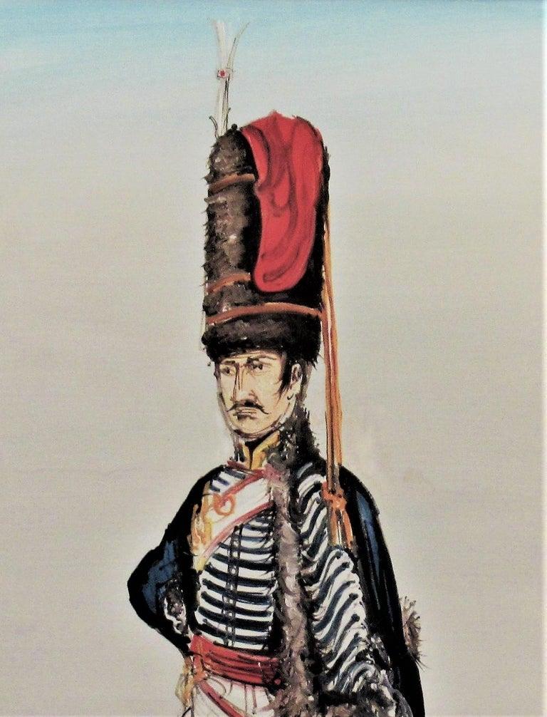 Hussard du Premier Empire, Paris - Impressionist Painting by Gaston Tyco