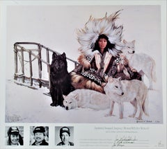 Agnjnauq Amguut; Iniupiaq (Woman with Her Wolves)