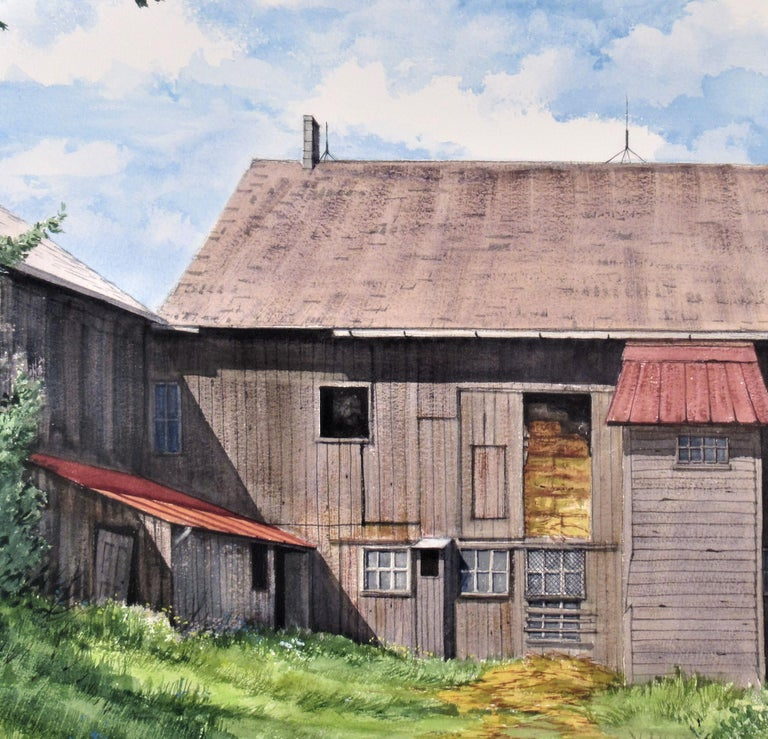 Earl Scwaiger's Barn - Art by W. Ralph Murray