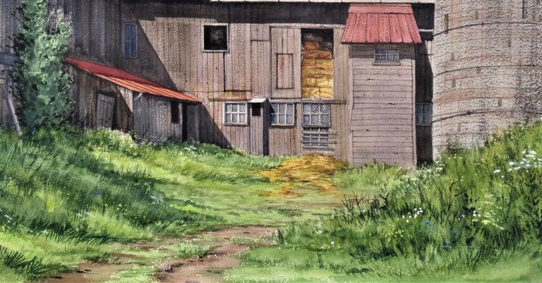 Earl Scwaiger's Barn - Gray Figurative Art by W. Ralph Murray