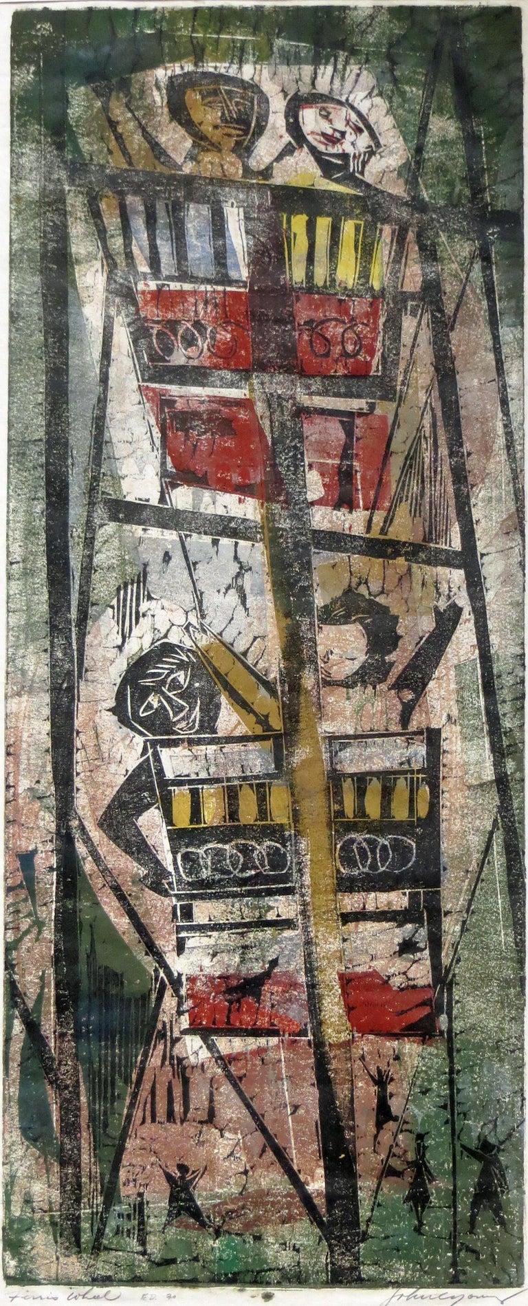 John Chin Young Abstract Print - Ferris Wheel
