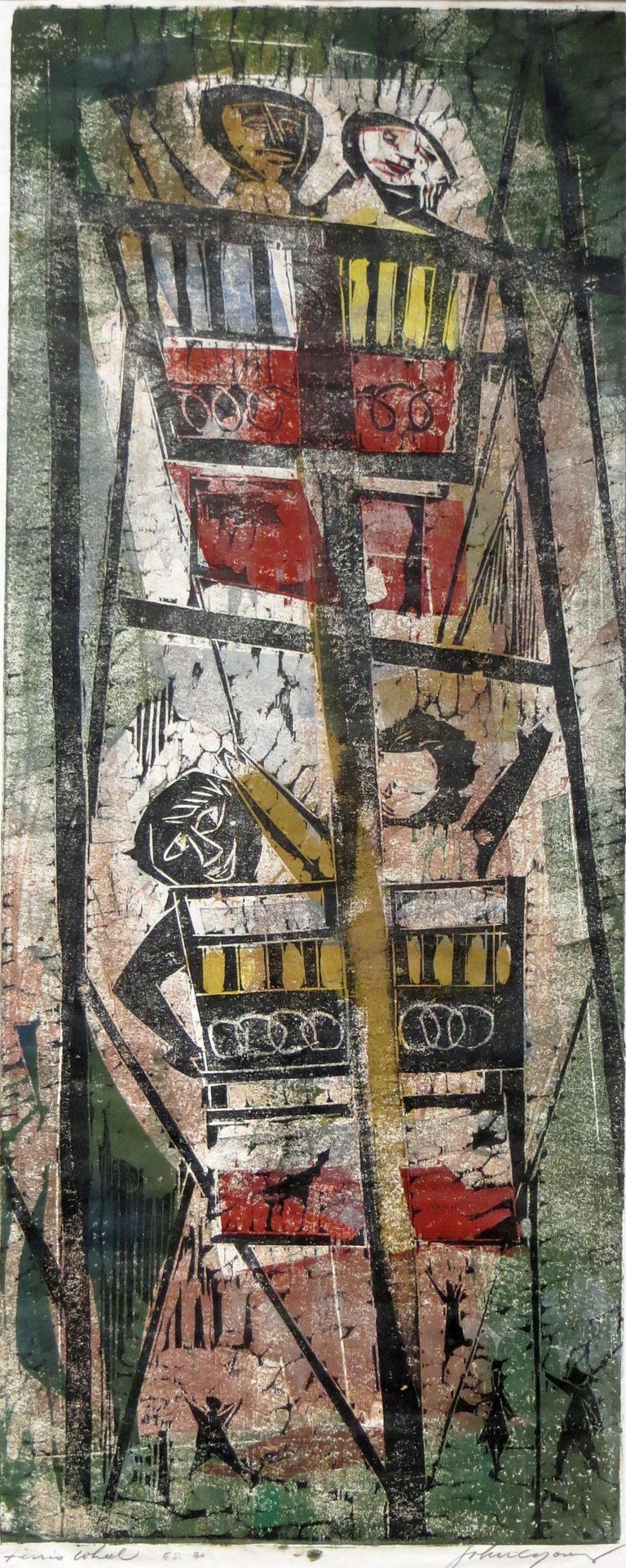 Ferris Wheel - Abstract Print by John Chin Young