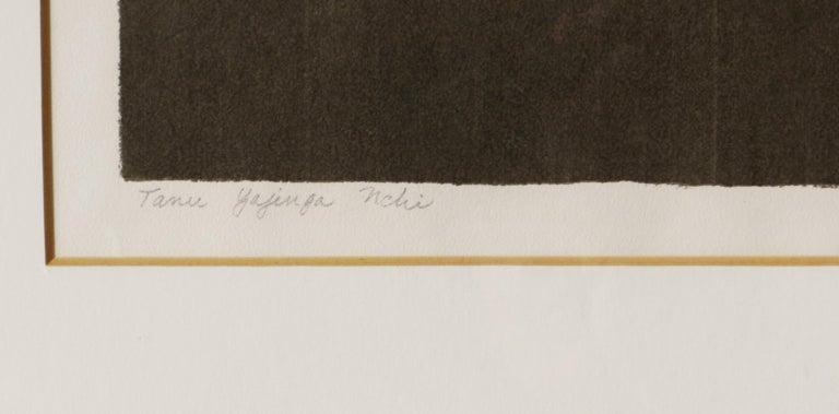 Artist: Jessie Spaulding Wilber – American (1912-1989) Title: Tanu Yajenga Nchi (Tanu Builds a Nation) refers to Tanzania Year: 1966 Medium: serigraph Sight size: 12 x 20 inches.  Sheet size: 21 x 28 inches Framed size: 22.25 x 29 inches  Signature: