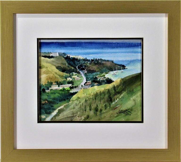 Ephraim Samson Landscape Art - Overlooking the Bay
