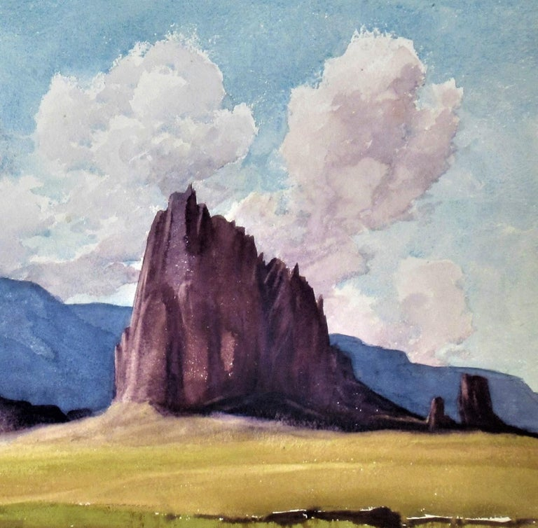 Shiprock (New Mexico) - American Impressionist Art by Roger Bailey