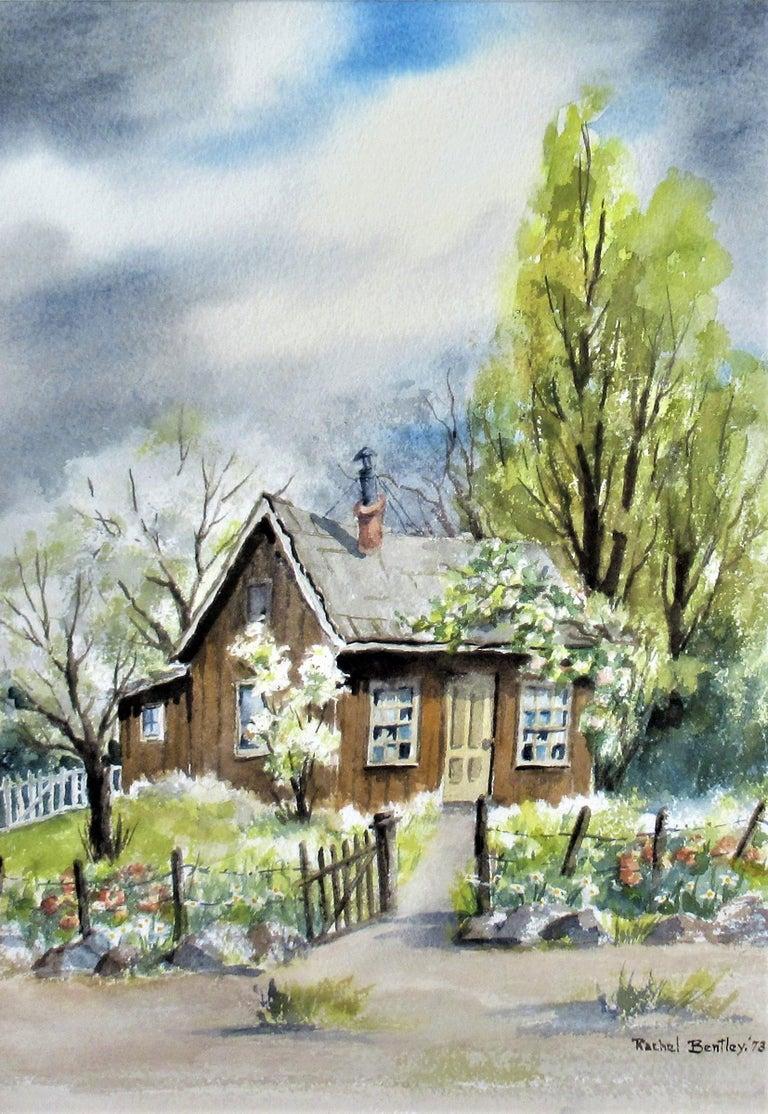 Landscape with House - Art by Rachel Bentley