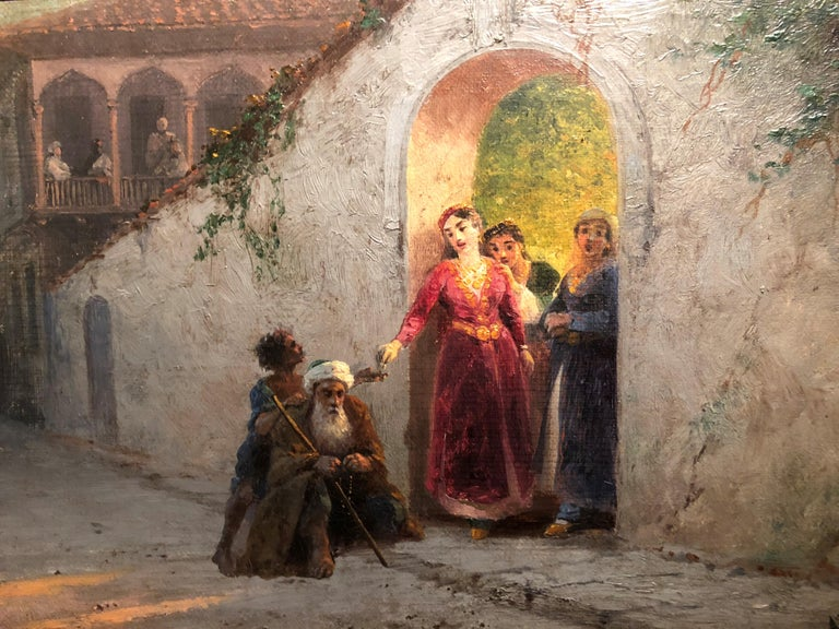A Street in Bakhchisarai - Brown Figurative Painting by Ivan Aivazovsky