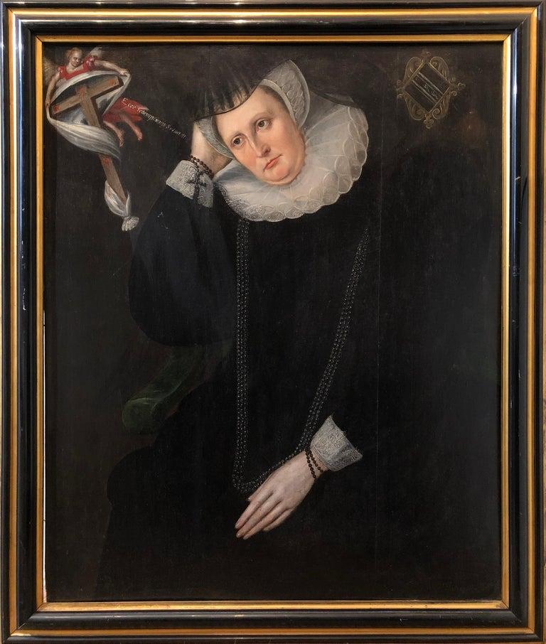 John De Critz Figurative Painting - Lady Dormore - A 16th Century Portrait of a key member of Shakespeare's England