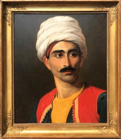 Portrait of The Bedouin Keeper of the Royal Giraffe, Hassan El Berberi c. 1827