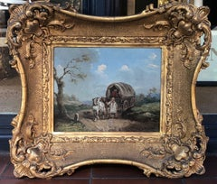 Tranquil Pair of 18th Century English Country Scenes