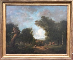 Bucolic 18th Century Landscape by Irish Painter George Barret Sr.