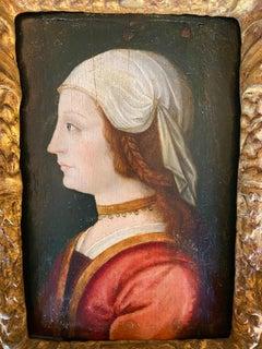 Stunning Portrait of a Lady with Auburn Hair Probably 1620's Italian