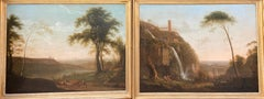 18th Century Scottish Neo-Classical Views of Tivoli Waterfall and Lake Albano