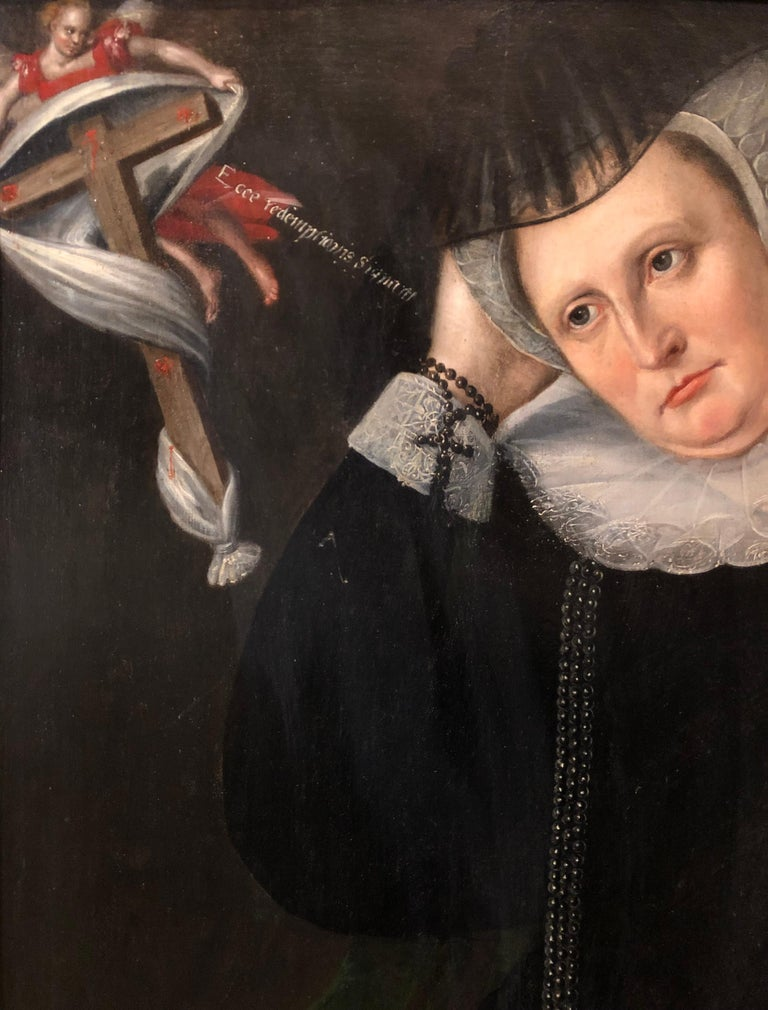 Lady Dormore - A 16th Century Portrait of a key member of Shakespeare's England - Painting by John De Critz